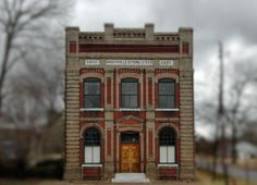 Wrightsville & Tennille Railroad Headquarters Building Tennille GA Washington County Landmark Photogaph Copyright Brian Brown Vanishing Sout...