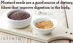 Mustard seeds are a #good #source of dietary fibers that improve digestion in the #body.