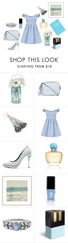 """Blue tenderness"" by danceofthesoul ❤ liked on Polyvore featuring Cultural Intrigue, Tory Burch, Chi Chi, Oscar de la Renta, JINsoon, Cathy Waterman and Tri-coastal Design"