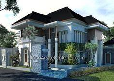 Desain rumah megah double facade luas 570 m2 - view 2