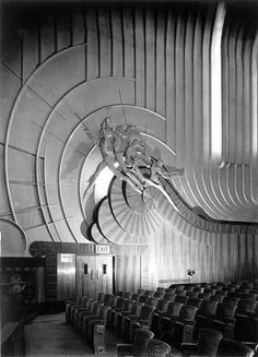 Auditorium, Odeon Cinema, Leicester Square, Westminster, London, 1938, by J Maltby