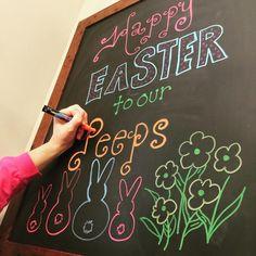 Easter spring chalkboard chalkmarker chalkwriter windowpainting windowart lente pasen krijtbord stift krijtstift raamtekening krijtstifttekening