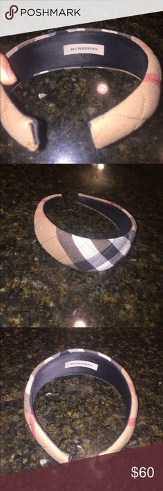 Burberry headband - classic print Authentic Burberry headband- excellent condition, classic print. Beautifully quilted ! Burberry Accessories Hair Accessories