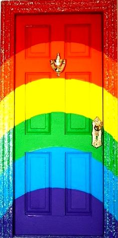 Rainbow door color  (¯`'•.¸de l'arc-en-ciel¸.•'´¯)