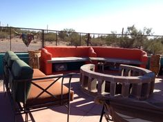 Nice place to relax and enjoy a glass of win in the evening at Desert Joy, Tucson/Marana - Clothing Optional Home Network