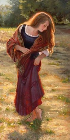 """""""Simple Beauty"""", by American artist - Sheri Dinardi, 30 x 15 inches, Oil on Linen, Available."""