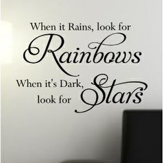 that's a tattoo idea! maybe do the word 'Rainbows' in the colors of the rainbow and do the word 'Stars' in sliver.