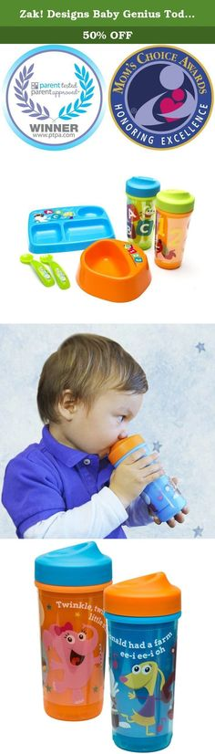 Zak! Designs Baby Genius Toddler Perfect Flo Sippy Cup with Independent Doer Graphics, Double Wall Insulated Tumbler and Adjustable Flow Valve, Leak Proof, BPA-Free Plastic 8.7 oz (Set of 2). Baby Genius – Products with a Purpose Zak! Designs brings another innovative mealtime solution to the table. The Baby Genius Perfect Flo spout cup will become your go to no spill and leak proof toddler cup for every meal. The Baby Genius line was created with a purpose to engage kids at critical…
