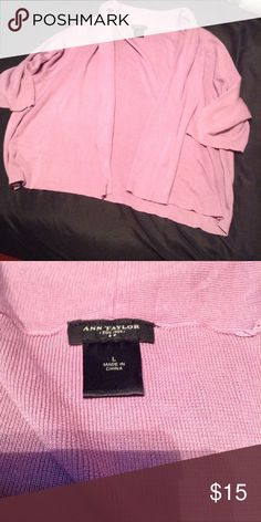 Ann Taylor LOFT L Lavender Open Cardigan Sweater Ann Taylor LOFT Large Lavender Open Cardigan Sweater Ann Taylor Sweaters Cardigans