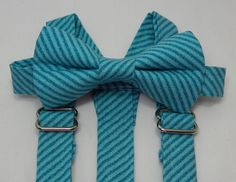 On Sale Teal Blue Diagonal Striped by SweetestHappenings on Etsy