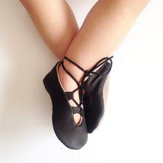 Black Licorice Ballet Flats