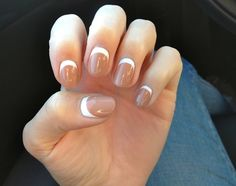 Reverse French Tip Nail Art Design