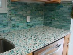 Sea glass bathroom ideas sea glass kitchen recycled glass ideas new trends awesome recycled kitchen s . Recycled Glass Countertops, Cement Countertops, Quartz Countertops, Kitchen Countertops Prices, Kitchen Backsplash, Kitchen Cabinets, Backsplash Ideas, Glass Bathroom, Glass Kitchen