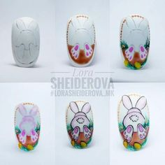 simple nail art tutorial for beginners Easter Nail Designs, Easter Nail Art, Nail Art Designs, Christmas Manicure, Holiday Nails, Spring Nail Art, Spring Nails, Gel Nagel Design, Flower Nail Art
