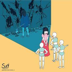 Mimi N are creating SUN Project - Fanart - Critique Dark Art Illustrations, Illustration Art, Character Art, Character Design, Sun Projects, Sad Drawings, Vent Art, Arte Obscura, Sad Art