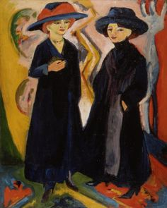 Two Women Ernst Ludwig Kirchner (Germany, 1880-1938) Germany, 1911-1912/1922 Paintings Oil on canvas 59 x 47 in. (149.9 x 119.4 cm) Gift of ...