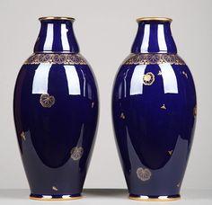 Paire de vases de Sèvres Art Déco