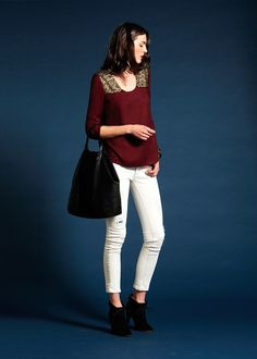 Sézane / Morgane Sézalory - Jackson blouse #sezane #jackson www.sezane.com/fr #frenchbrand  #frenchstyle #outfit #blouse