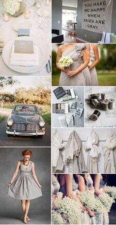 dream wedding = gray gray gray and more gray.