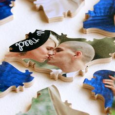 Custom Wooden Photo Puzzle. A crowd-pleasing guest book alternative. By Bella Puzzles. (Your photo on one side. Guests sign the other side.)