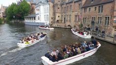Traffic jams in Bruges, quite the site to see.