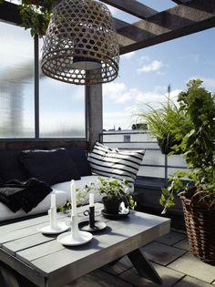 Balkontisch Couchtisch-dekorieren Übertöpfe-balkon design