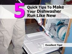 Dishwashers are appliances that are used daily so they need to be properly maintained. It is important to make sure that all food is cleared from the plates and pots and pans before they go into the dishwasher.