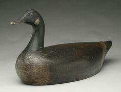 Early hollow carved Canada goose from the St. Clair Flats.