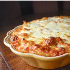 Warm, filling & delicious. Baked Ziti with Mini Meatballs.