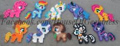 Pattern: My Little Pony Inspired Perler Bead Patterns (PDF digital file) ________________________________________________________________________ This is a digital file (PDF) that includes a pattern (with Perler bead color guide), a picture of the completed Perler bead sprite,