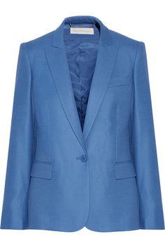 Azure wool-piqué  Button fastening at front 100% wool; lining: 52% viscose, 48% cotton; sleeve lining: 100% viscose Dry clean Designer color: Steel Blue