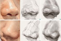 Rock paintingUI Xue Jie museum collection to CG tutorials Figure) _ petal illustration - How to Tutorials Diy Academic Drawing, Drawing Studies, Art Studies, Drawing Sketches, Pencil Drawings, Art Drawings, Anatomy Drawing, Anatomy Art, Nose Drawing