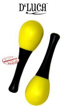 """D'Luca Kids 4.75"""" Small Plastic Yellow Maracas M22-YW by D'Luca. Save 17 Off!. $4.99. This attractive Children's plastic Maracas Toy is an enjoyable way for kids to exercise eye-hand coordination and reinforce their natural sense of rhythm. Made of plastic it produces a great shaking rhythm. These percussion instruments create a sound that will excite young musicians. Use this Children's Musical Instrument Toy to develop rhythm and melody of your kid. A great percussion gift for ki..."""