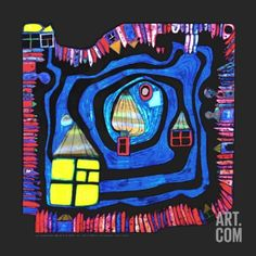 End of the Waters, c.1979 Art Print by Friedensreich Hundertwasser at Art.com