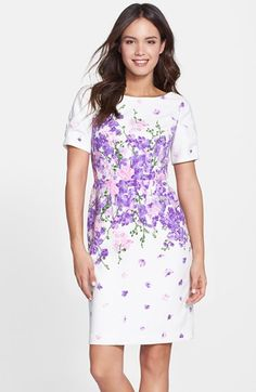 Adrianna Papell 'Garden Party' Floral Print Sheath Dress available at #Nordstrom