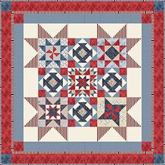 """Check out our FREE """"American Dream"""" quilt pattern using the collection, """"Oh My Stars"""" by Dover Hill Studio for Benartex. Designed by Diane Nagle. 