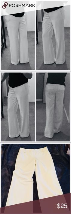 Gorgeous winter white dress pants Beautiful winter white dress pants , fully lined. Slit side pockets, mock back pockets wide legged with cuff at bottom INC International Concepts Pants Wide Leg