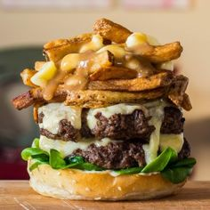 The Poutine Cheeseburger - http://www.foodandwine.com/fwx/food/your-cold-weather-arsenal-poutine-cheeseburger