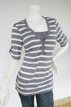 c463ceb948a HENLEY TOP - Maternity Clothes. Nursing Tops for Breastfeeding • Sporty  looking Henley TOP is