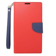 Insten Leather Case Cover Lanyard with Stand/ Wallet Flap Pouch/ Photo Display For Nokia Lumia 1320