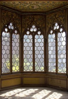 Windows, Wartburg Castle, Eisenach, Thüringen, Germany (UNESCO World Heritage)