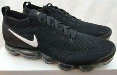 5438d8ccf6522 Nike Air Vapormax Flyknit 2 Black White Dark Grey 942842 001 Size 14  Nike   AthleticSneakers