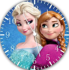 "Disney Frozen Elsa Anna wall Clock 10"" nice Gift and Room wall Decor W475"