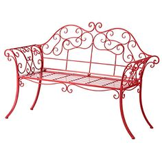 Metal Scroll Garden Bench