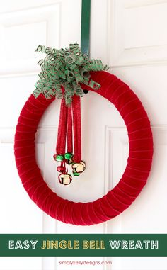 Create this easy jingle bell wreath that will look great on your door and…