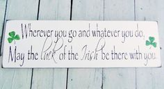 Luck of the Irish Sign Wedding bridal by deSignsOfExpression