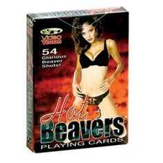 Spicy beaver shots playing cards