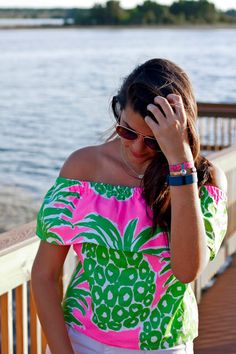Crafting Lilly Pulitzer Flamenco Pineapple DIY