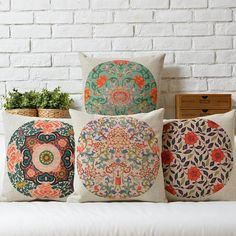 Linen Pillow Pillow cover Cushion cover Chinese style by ColorfulZ, $16.99