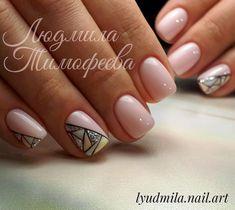 Маникюр | Nails Shellac Nails, Nail Manicure, Nail Polish, Minimalist Nails, Trendy Nails, Cute Nails, Hair And Nails, My Nails, Nagellack Trends